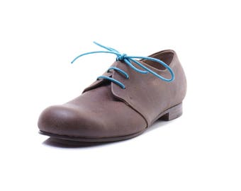 Derby shoes,Brown leather shoes,man shoes
