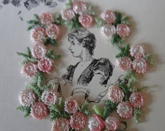 Small Pink Floral Appliques from the 70's