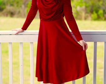 Vintage burgandy dress