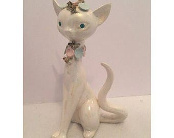 Vintage Lefton China Siamese Cat Figurine