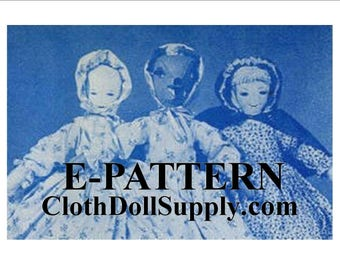 E-Pattern – Little Red Riding Hood, Grandma & Wolf Topsy Turvy Doll Sewing Pattern #EP-LRRH