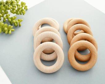 Bulk Wooden Teething Rings, Wholesale Wooden Rings, Teething Toy Rings, Bulk Beech Rings, DIY Wooden Teether Rings, Natural Wood Ring