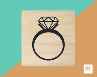 Diamond Ring - 3cm Rubber Stamp (DODRS0051)