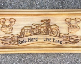 Custom Vintage Bike Sign