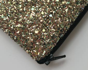 Vintage gold glitter clutch  bag, Glitter clutch bag, evening clutch bag, wedding clutch bag, prom clutch bag