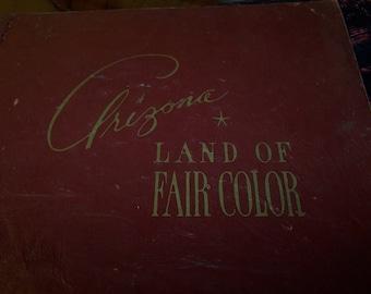 Arizona Land of Fair Color Pictures by Arizona Highways. Vintage Souvenir Booklet