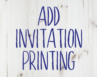 Add Printing to an Invitation