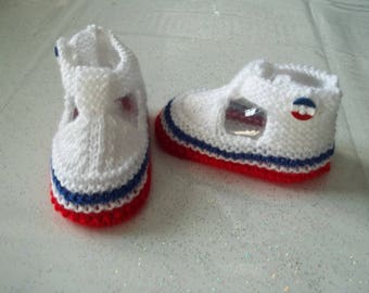 cocorico-special patriotic baby booties 0-3 months