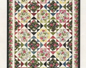 SALE! Garden Echo Quilt KIT - Maywood Studio - 3.5 pounds of fabric!!  Poppies