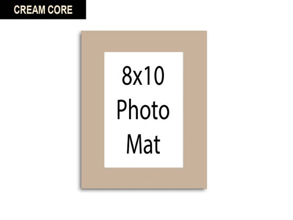 Multiple Colors Any Opening Size 8x10 Photo Mat Cream