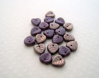 Set of 20 sheets 10 x 10 mm hearts l Op. Cocoa Brown - VPF1010-0128
