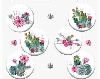 Digital images for cabochons Cactus