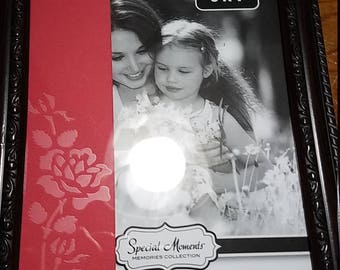 Etched Picture Frame Rose