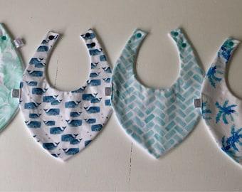 Dribble bib / bandana bib / palm leaves / gender neutralbibs / bibs / baby bibs / baby gift