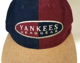 American Needle MLB New York Yankees Vintage Headgear Wool Strapback Hat