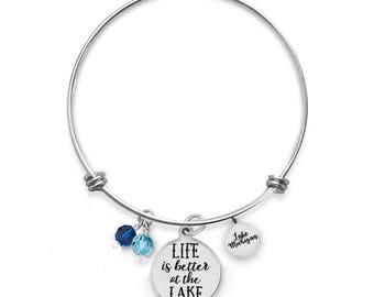Lake Michigan Bracelet | Custom Lake Bracelets | Vacation Bracelets | Travel Bracelets