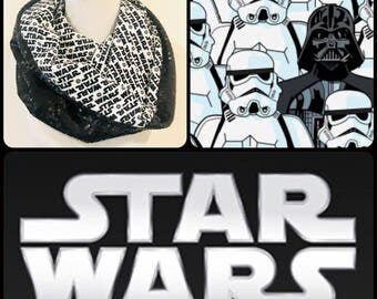 Star Wars Storm Trooper Darth Vader Infinity Scarf / Hood
