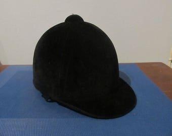 Equestrian Helmet, Riding hat, Horse riding helmet, Velvet riding hat, Vintage riding hat, English riding hat, Riding helmet
