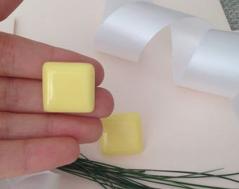 Yellow Earrings - Plastic Earrings - Plastic Jewelry - Yellow Jewelry - Yellow Accessories - 80s Earrings -1980s Earrings - Square Earrings