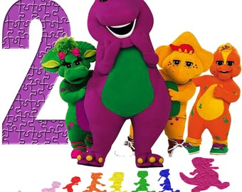 Barney and Friends Birthday Shirt Add Name & AGE Personalized for Family Birthday Party - Barney Baby Bob BJ