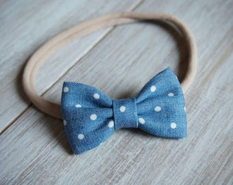 Denim Bow Headband