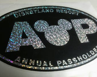Disney AP Decal- holographic glitter on black
