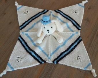 Bunny Boy Security Blanket Handmade