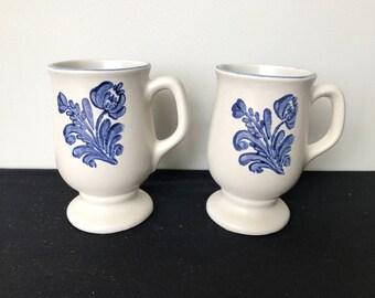 Set of 2 Pfaltzgraff Yorktown Pedestal Mugs