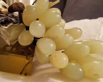 "Chinese Jade ""Stone Fruit"" Grape Cluster"