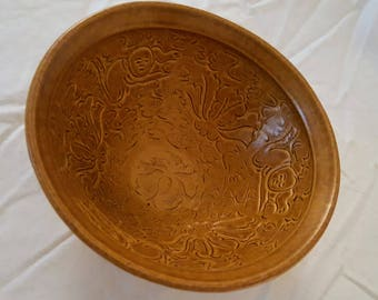 Chinese Northern Song Dynasty Celadon Brown Lotus Boy Bowl