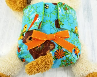 Female Dog Diaper - Dog Panties - Dog Potty Training Aid - house breaking - Extra Small to Extra Large - Bears & Bees -CUSTOM SIZE