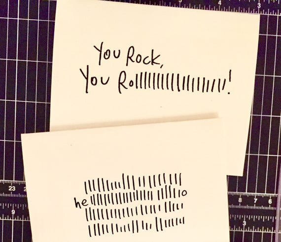 3 pck of hello cards, blank notecards, hello card set, set of 3 cards, hello card, you rock card, rock and roll card, bulk greeting cards,