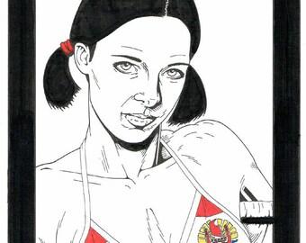 Lina in French Polynesian Bikini