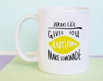 When Life Gives You Lemons Make Lemonade Mug (With Gift Box)