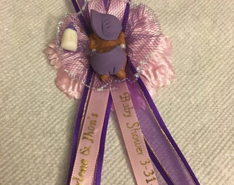 Purple & Pink Baby Shower Capias