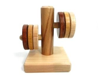 Round stacking horizontal, recessed Montessori toy