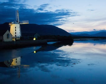 photography, dusk photography, Ireland photography, windmill,  Irish Dusk, photography print