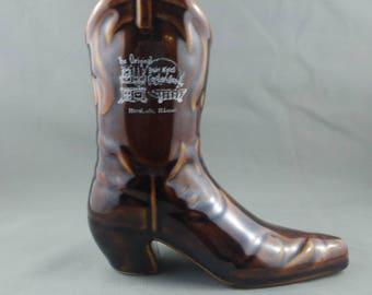 Vintge Tiki Mug - Cowboy Boot - From Bobby Mc Ghees Conglomeration Honolulu - Ceramic