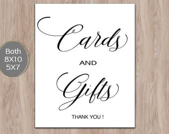 Cards and Gifts Sign, Gift Table Sign, Cards and Gifts Printable, Wedding Template, Rustic Wedding Sign, Cards Table Sign Instant Download