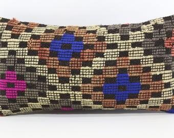 10x20 Embroidered Kilim Pillow 10x20 Anatolian Kilim Pillow Sofa Pillow Naturel Kilim Pillow Handwoven Kilim Pillow  SP2550-1069