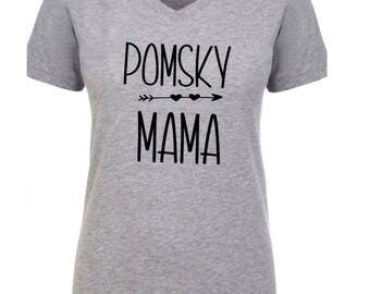 Pomsky mama, pomsky mom shirt, pomsky, dog mom shirt, pomsky, gift for her