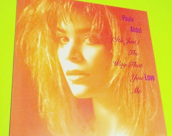 PAULA ABDUL: (It's Just) The Way That You Love Me - vinyl record album pop music singer songwriter retro vintage '80s 80s 80's '90s 90s 90's