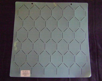 Sashiko Japanese or Traditional Quilting Stencil 12 in. Chicken Wire Background Grid