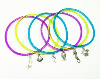 Under the sea jelly bracelets party favors