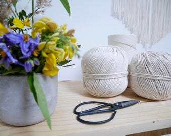 Cotton Rope for Macrame, 50m diameter 3mm