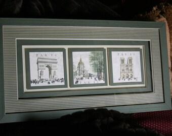 Frame prints monuments of Paris