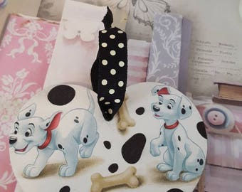 101 Dalmatians Themed Wooden Heart 12cm