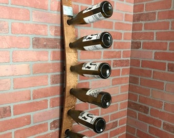 Wine Barrel Stave Wine Rack