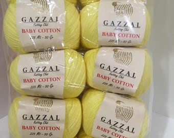 Gazzal Baby Cotton [PACK 10x50g] - cotton yarn, baby yarn, baby cotton, hypoallergenic yarn