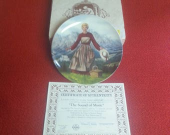 "Vintage Edwin M. Knowles ""The Sound Of Music"" Musical Fine China Commemorative First Plate"